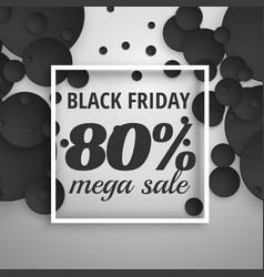 amazing black friday sale poster banner with dark vector image