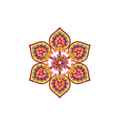 Arabic flower ornament floral background abstract vector