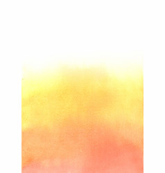 autumn or sunset sky on summer color watercolor vector image