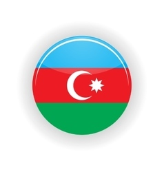 Azerbaijan icon circle vector image