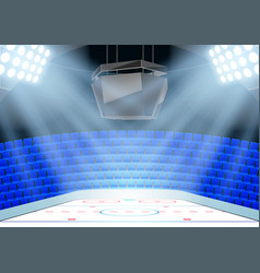 Backgrounds of ice hockey arena vector