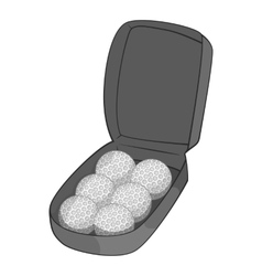 Bag for golf balls icon gray monochrome style vector image