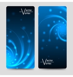Banners template with vortex shine elements vector