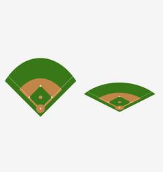 Baseball field plan vector
