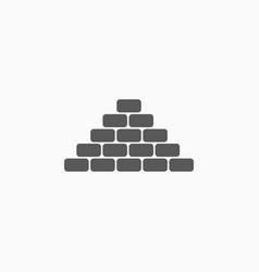 Brick icon vector