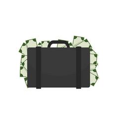 Briefcase full money on vector