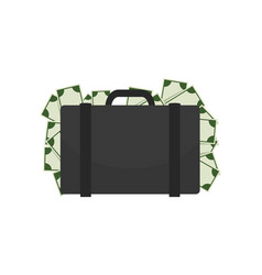 briefcase full of money on vector image