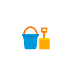 bucket icon flat element of vector image