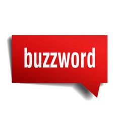 buzzword red 3d speech bubble vector image