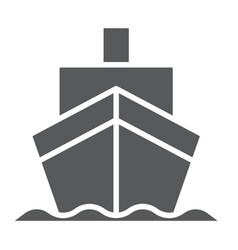 cargo ship glyph icon transportation and delivery vector image
