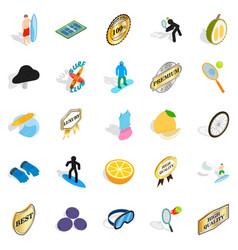 champion title icons set isometric style vector image
