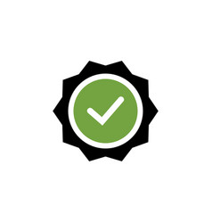 checklist tick badge icon design template vector image