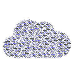Cloud mosaic of dna spiral icons vector