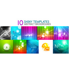 collection of shiny light templates vector image