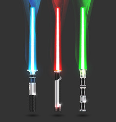 Colorful with light sabers vector