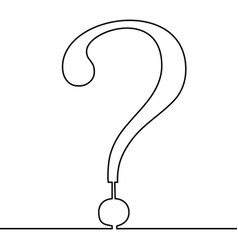 continuous line question mark single line vector image