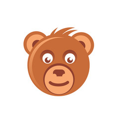 Cute brown bear head vector