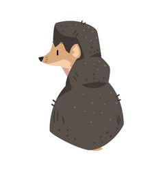 Cute hedgehog lovely wild forest animal cartoon vector