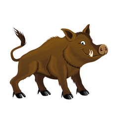 Cute wild boar vector