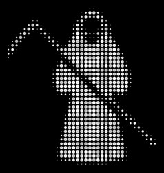 Death scytheman halftone icon vector
