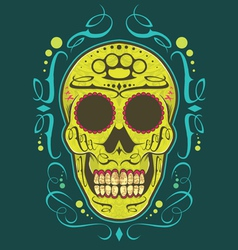 Decorative skull color vector