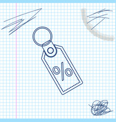 discount percent tag line sketch icon isolated on vector image