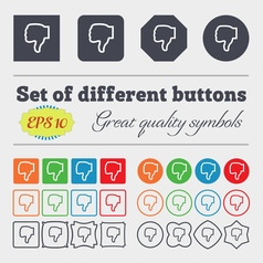 Dislike icon sign Big set of colorful diverse vector image