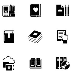 E book icon set vector