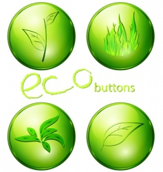 eco green buttons vector image