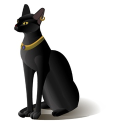 Egypt cat statue isolated vector image