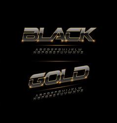 elegant sport black silver and golden metal vector image