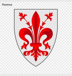 Emblem of florence vector