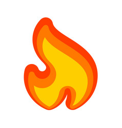 fire flames red yellow art new icon vector image