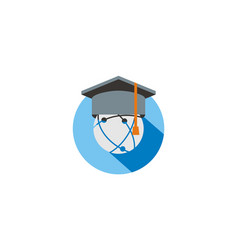 graduation hat education logo vector image