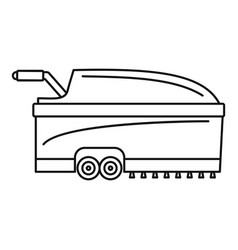hall vacuum cleaner icon outline style vector image