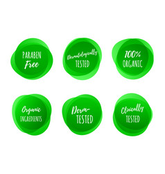 healthy product package green labels vector image