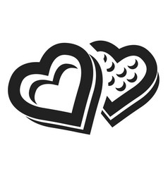 heart candy box icon simple style vector image