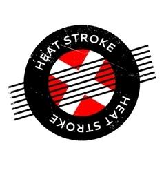 Heat stroke rubber stamp vector