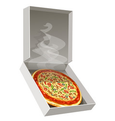 Hot pizza vector