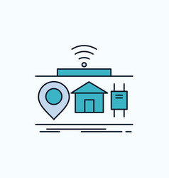 iot gadgets internet of things flat icon green vector image