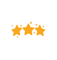 isolated golden stars logo rating sign vector image