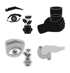 Isolated object diet and treatment icon vector