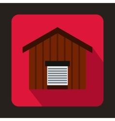 Large barn icon flat style vector image