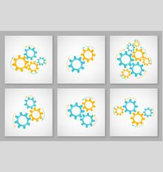 mechanical cogwheel set business vector image