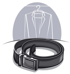 Men leather belt vector