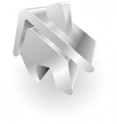 Metallic house vector
