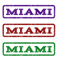 Miami watermark stamp vector