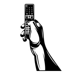 monochrome with remote control in vector image