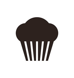 Muffin Cupcake icon vector