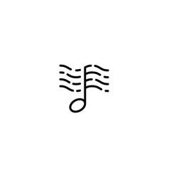 Music wave and ocean logo design template vector